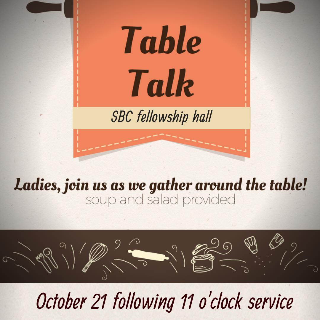 Women's Ministry Table Talk