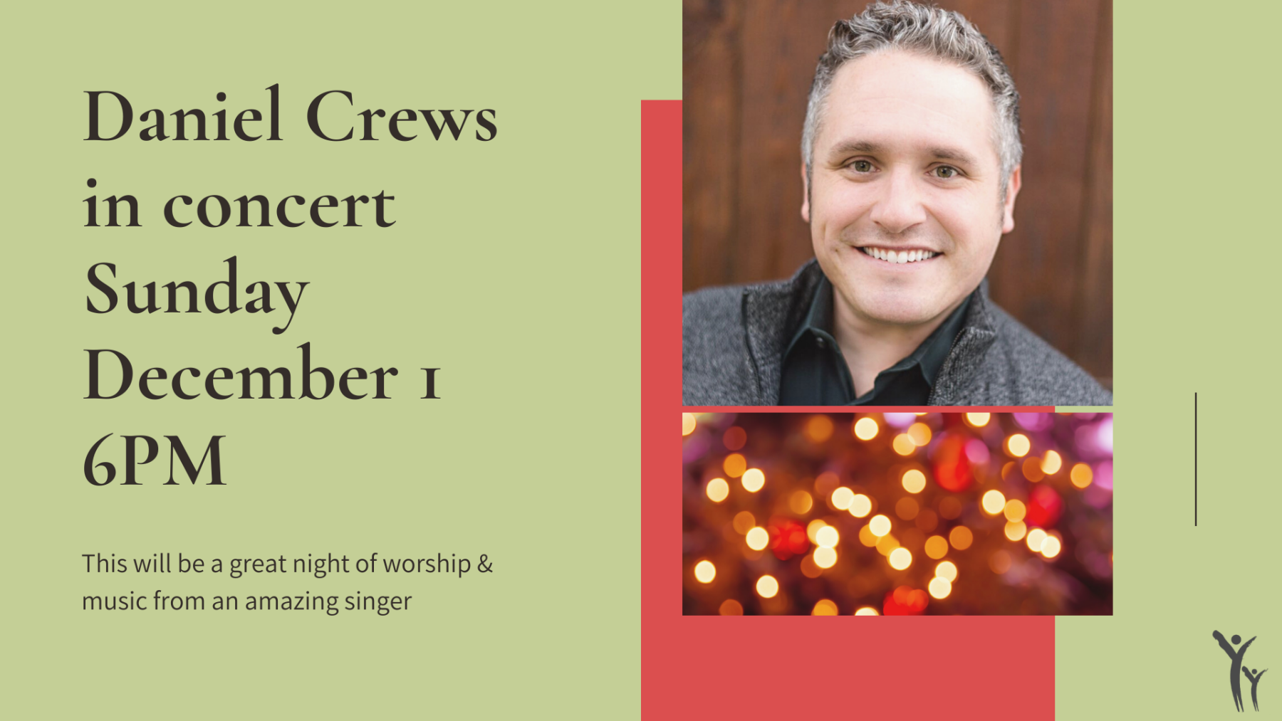 Daniel Crews in concert December 1 @ 6pm