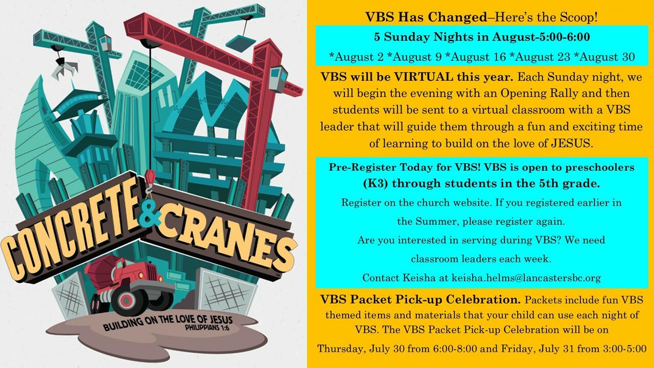 VBS 2020 Concrete & Cranes